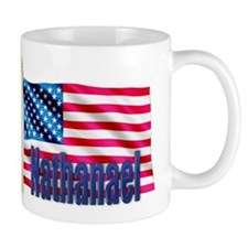 Nathanael American Flag Gift Mug