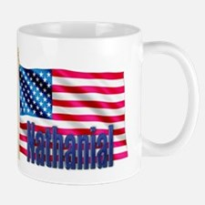 Nathanial American Flag Gift Mug