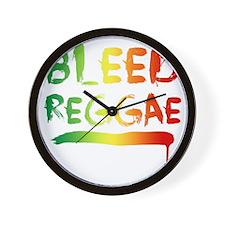 bleedreggae DARK Wall Clock