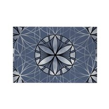 Flower of Life_Blue_6x4_card Rectangle Magnet