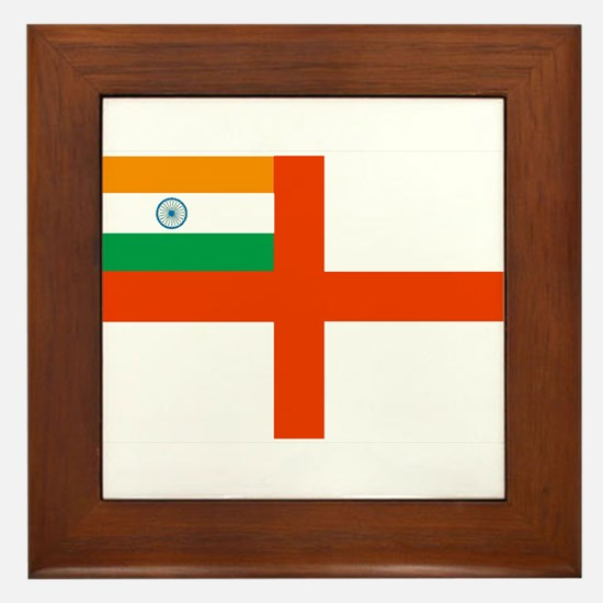 Indian Navy Flag Framed Tile