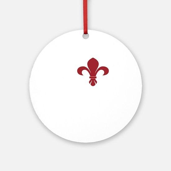 ifrenchstlWHITE Round Ornament