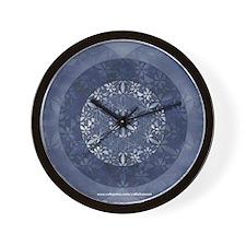 Flower of Life_Blue_9x7.5_mpad Wall Clock
