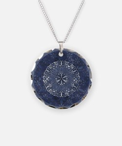 Flower of Life_Blue_9x7.5_mp Necklace