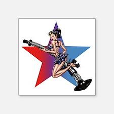 "gap_girl_star Square Sticker 3"" x 3"""