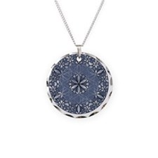 Flower of Life_Blue_11x11_pi Necklace