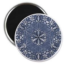 Flower of Life_Blue_11x11_pillow Magnet