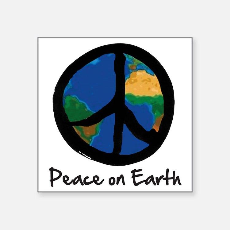"peace_on_earth Square Sticker 3"" x 3"""