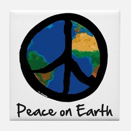 peace_on_earth Tile Coaster