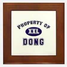 Property of dong Framed Tile
