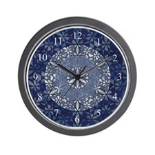 Flower of Life_Blue_large_clock Wall Clock
