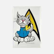Star-Trek-Spock-Cat Rectangle Magnet