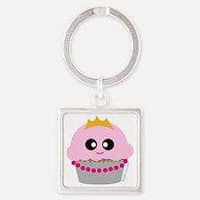 cupcake princess Square Keychain