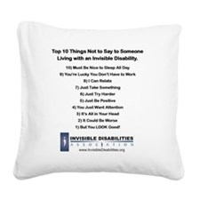Top 10 Not to Say 8 x 8 Square Canvas Pillow