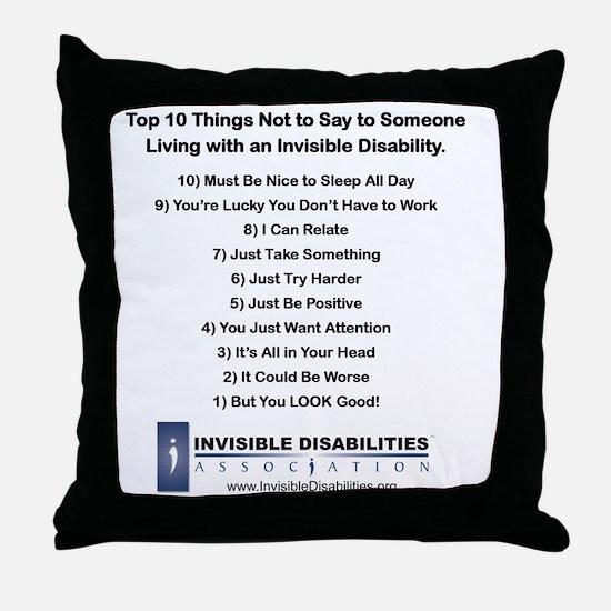 Top 10 Not to Say 8 x 8 Throw Pillow
