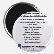 Top 10 Not to Say 8 x 8 Magnet
