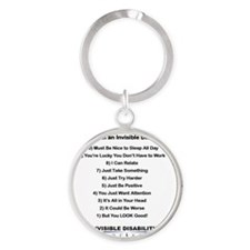 Top 10 Not to Say 8 x 8 Round Keychain