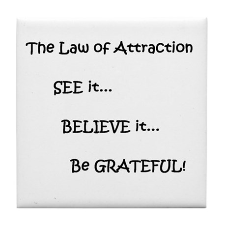 Secret of Powerful Attraction Tile Coaster
