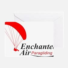 Enchanted Air Paragliding Logo Greeting Card