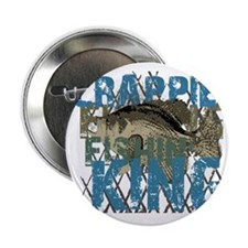 """crappie fishing king 2.25"""" Button"""