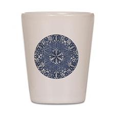 Flower of Life_Blue_ornament Shot Glass