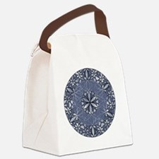 Flower of Life_Blue_ornament Canvas Lunch Bag