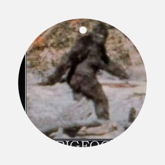 bigfoot-big-foot-hide-and-seek-demo Round Ornament