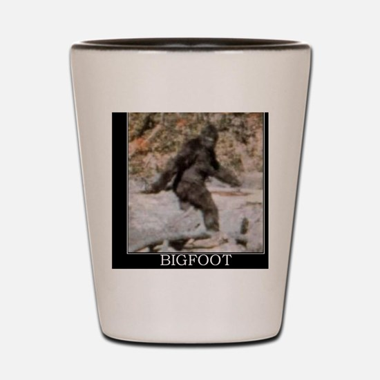 bigfoot-big-foot-hide-and-seek-demotiva Shot Glass