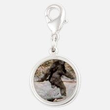 bigfoot-big-foot-hide-and-seek Silver Round Charm