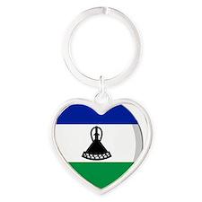 lesotho Heart Keychain