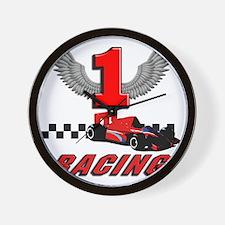 formula one racing car Wall Clock