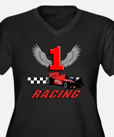 formula one  Women's Plus Size Dark V-Neck T-Shirt