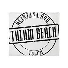 Tulum Beach Title W Throw Blanket