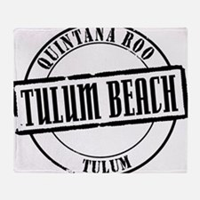 Tulum Beach Title W Throw Blanket
