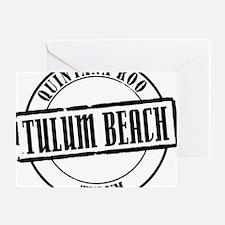 Tulum Beach Title W Greeting Card