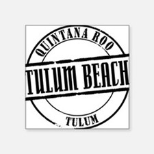 "Tulum Beach Title W Square Sticker 3"" x 3"""