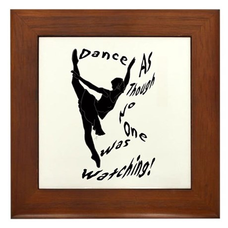 """Dance"" Framed Tile"