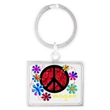 imagine peace darks 2011 Landscape Keychain