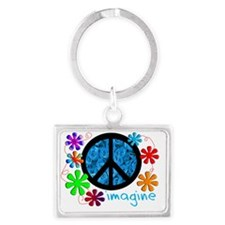 Imagine BLUE 2011 Landscape Keychain