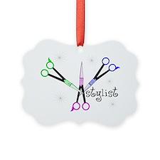 Stylist 3 scissors Picture Ornament