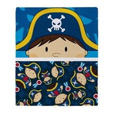 Pirate Pad1 Throw Blanket