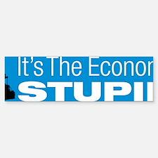 economystupid_cp_licplate Bumper Bumper Sticker