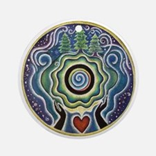 Earth Blessing Mandala Round Ornament