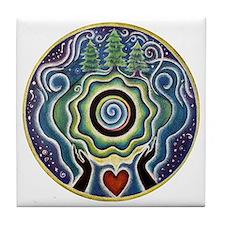 Earth Blessing Mandala Tile Coaster