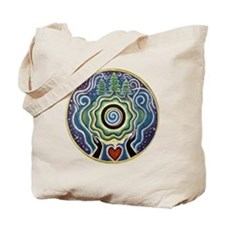Earth Blessing Mandala Tote Bag