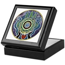 Earth Blessing Mandala Keepsake Box