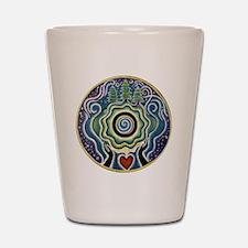 Earth Blessing Mandala Shot Glass