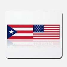 made in puerto rico(blk) Mousepad
