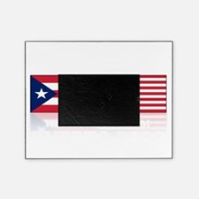made in puerto rico(blk) Picture Frame