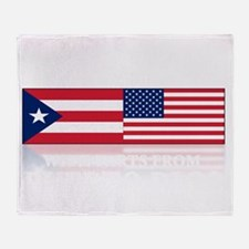 made in puerto rico(blk) Throw Blanket